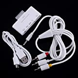 5 in 1 AV Cable + Camera Connection Kit USB SD/TF Card Reader for Apple iPad 2 / iPad 3 (The new iPad) - White