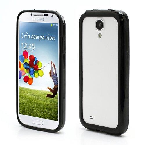 iProtect Premium Bumper / Schutzhülle / Skin für das neue Samsung Galaxy S4 / S 4 / S IV GT-I9500 + GT-I9505 - edles und schlankes Design aus hochwertigem TPU und sehr stabilem Plastik - in SCHWARZ / black