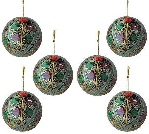 conjunto-de-6-papel-mache-india-madera-arbol-de-navidad-adornos-bolas-decoracion-pack-personalizados