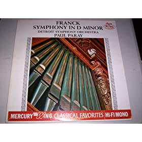 Franck: Symphony in D minor/Detroit Symphony Orchestra/Paul Paray - Vinyl Record