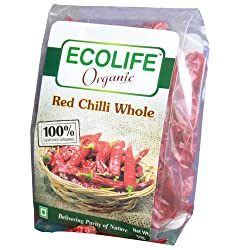 Ecolife Organic Chilli Whole(pack of 3)