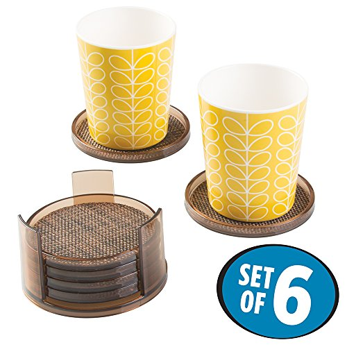 mdesign-round-drink-coasters-set-of-6-bronze-sand