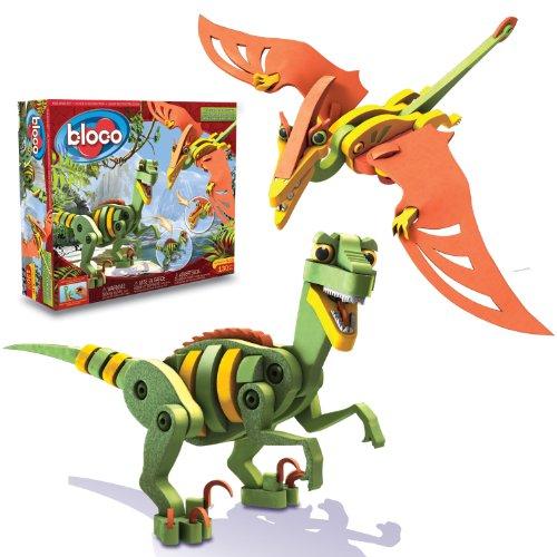 Jeu-de-construction-Bloco-Dinosaures-Velociraptor-et-Ptrosaure