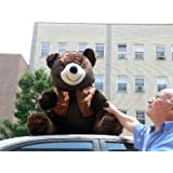 Greatest Purchase 3-FEET TALL GIANT LARGE BROWN SOFT STUFFED TEDDY BEAR WEARING VEST * AMERICAN MADE IN THE USA AMERICA HUGE STUFFED ANIMAL Sale