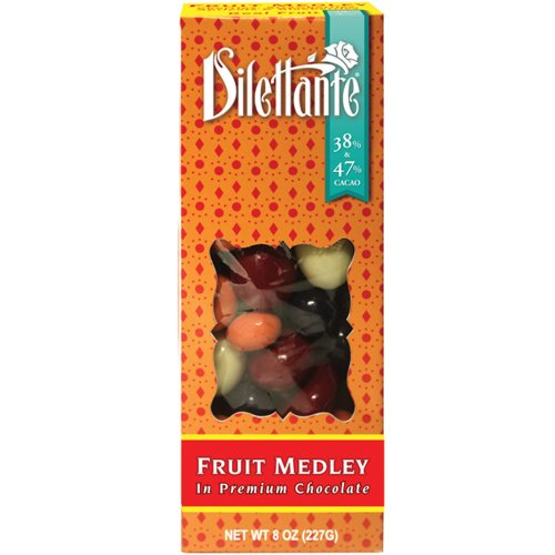 Chocolate Covered Fruit Medley Drag?es - 8oz Boxes - by Dilettante (4 Pack)