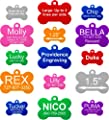 Dog Bone Shape Pet ID Tag - 2 Sizes & 8 Colors Available