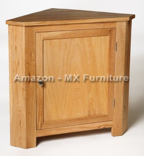 New Solid Oak Low Corner Unit with Adjustable Shelf