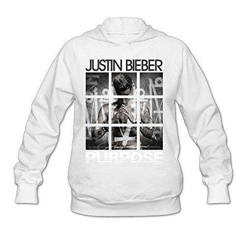 Namii Women's Justin Bieber Purpose Tours Hoodies Size M White (Misha Collins Merchandise compare prices)
