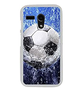 Football in Water 2D Hard Polycarbonate Designer Back Case Cover for Moto G Turbo Edition :: Moto G Turbo (Virat Kohli Edition)
