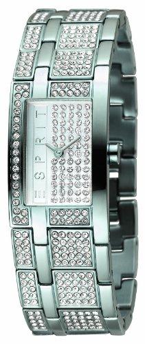 Esprit 4324102 - Reloj de mujer de cuarzo, correa de acero inoxidable color plata