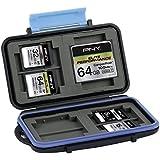 PNY Boitier Etui Housse de rangement pour cartes mémoires SD et Compact Flash étanche resistante aux chocs