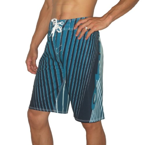 Oakley Mens REVERB Skate & Surf Boardshorts Board Shorts - Blue & Black (Size: 31)