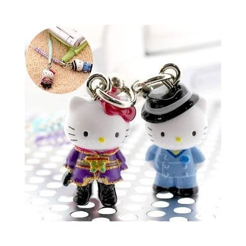 Sanrio Hello Kitty x Anime Paradise Kiss Pair Kitty Cell Phone Strap Set (Japanese Imported)