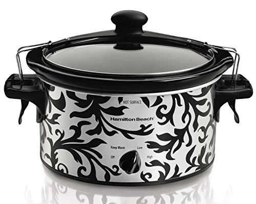 Hamilton Beach Stay-or-Go 4-Quart Slow Cooker, Stainless w/ Design (Designer Slow Cooker compare prices)