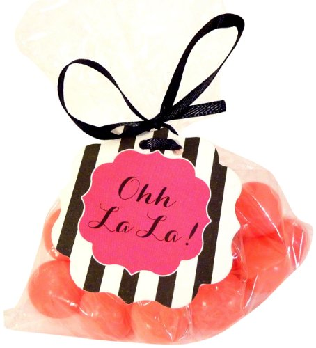 """Bella Cupcake Couture 8-Pack """"Ohh La La"""" Hang Tags, Striped Black And White front-580108"""