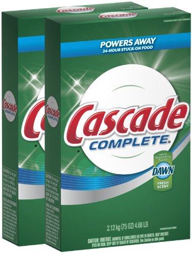 Cascade Complete Powder All-in-1 Dishwasher Detergent - 75 oz - Fresh - 2 pk (Cascade Dishwashing Powder compare prices)