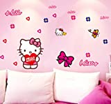 Liroyal Sweet Love Hello Kitty Girls Bedroom Wall Car Stickers from Wall Stickers Warehouse Background sticker