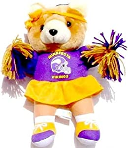 Minnesota Vikings Plush Cheerleader Bear (Toy)