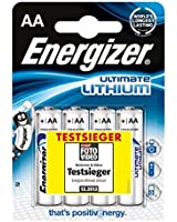 Energizer Ultimate 4 Pack AA 639155 Lithium Batteries