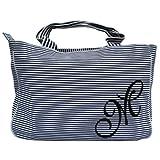 Zebra Blue Striped Tote Bag