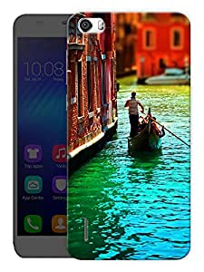 """Humor Gang Man On Boat - Venice Printed Designer Mobile Back Cover For """"Huawei Honor 6"""" (3D, Matte, Premium Quality Snap On Case)"""