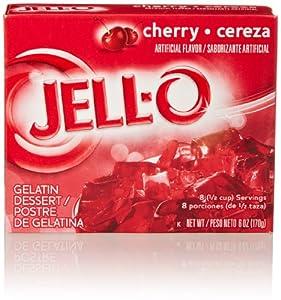Jell-O Gelatin Dessert, Cherry, 6 Oz