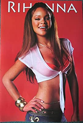 Rihanna early career red bkgrnd POSTER 14.5 x 21 higher qual (sent FROM USA in PVC pipe)