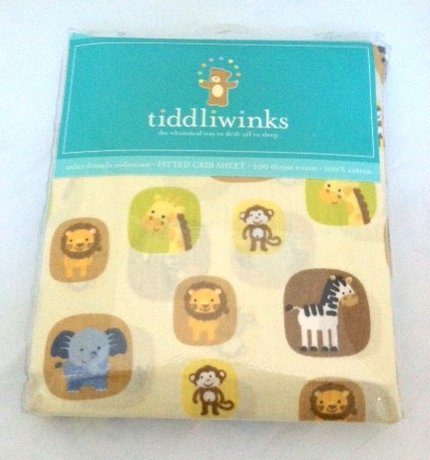 Tiddliwinks Safari Friends Fitted Jungle Sheet by Kids Line