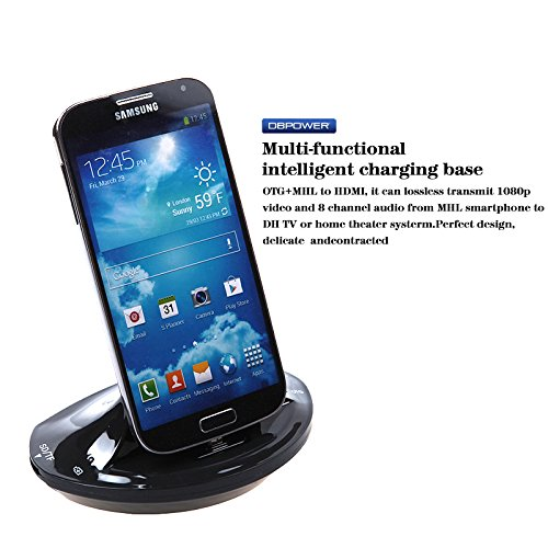 Dbpower Multi-Functional Charger Docking Station Smart Otg Mhl Hdmi Including Usb & Sd/Tf Ports, Compatible With Samsung Galaxy S3 S4 S5, Note 2 Note 3, Galaxy Tabt310/311 - Black