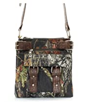 Mossy Oak Brown Camouflage Western Hipster Crossbody Purse
