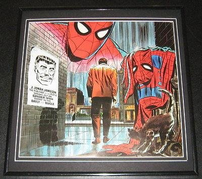 Amazing Spiderman Quits Original Framed 1978 Marvel Poster 12X12