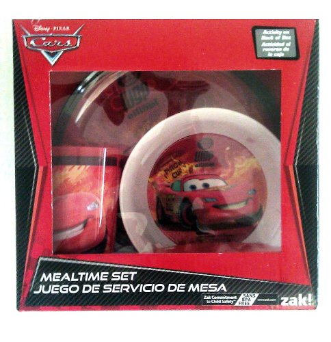 Disney Cars Mealtime 3 Piece Set Bowl & Cup - 1