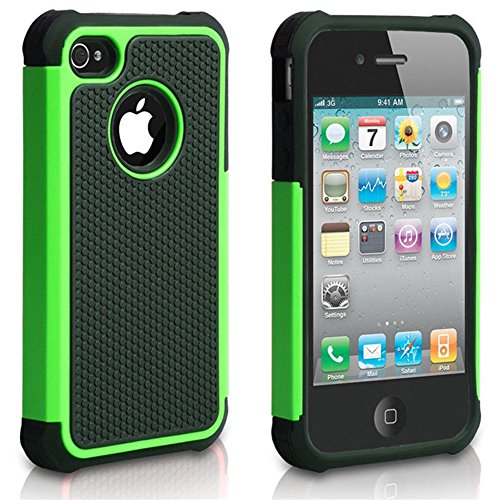 APPLE iPod Touch 6 case, Scratch-Resistant Dual Layer Hybrid Protective Case and Shockproof Bumper by Boonix (Green)