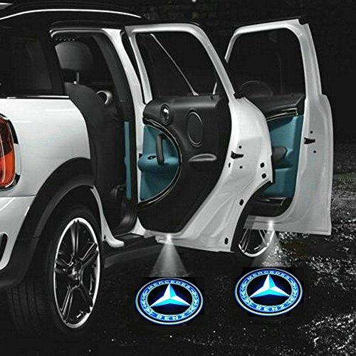 2 X 5Th Gen Car Door Shadow Laser Projector Logo Led Light For Mercedes-Benz All Series C S E Sl Glk Slk Cls Class Amg W204 W169 W212 S204 C204 W203 W211 Cl203 W463 X204