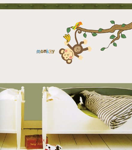 Jiniy MONKEY WALL ART DECOR Mural Decal STICKER(JSS58219)