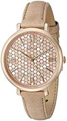 Fossil Women's ES3866 Jacqueline Three-Hand Date Leather Watch - Light Brown