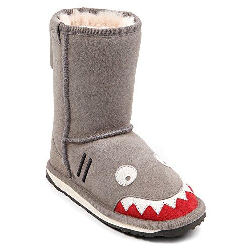 Emu Australia Little Creatures-Shark Snow Boot (Toddler/Little Kid/Big Kid),Putty,9 M Us Toddler front-553400