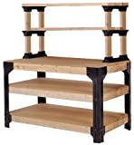 2x4basics 90164 Workbench and Shelving Storage System