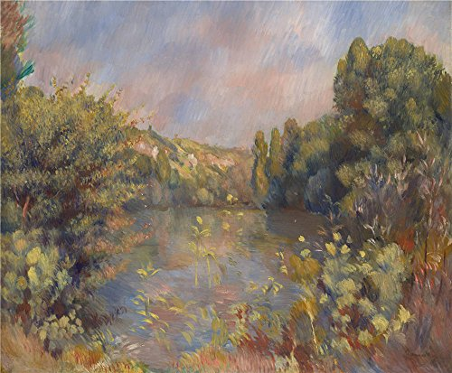 'Pierre Auguste Renoir Lakeside Landscape ' Oil Painting, 10 X 12 Inch / 25 X 31 Cm ,printed On Perfect Effect Canvas ,this Amazing Art Decorative Canvas Prints Is Perfectly Suitalbe For Home Theater Decoration And Home Decoration And Gifts (Cup Holder For Snow Blower compare prices)