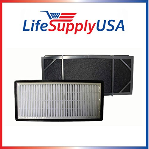 2-Pack Replacement filter for Honeywell HHT-011 Air Purifier Filter Kit also Fits 16200 16216 Desktop Air Purifier Part # HRF-B2C (HRFB2C), 3811-350, 16216, 30LB1620XB2, HRF-C1; By Vacuum Savings