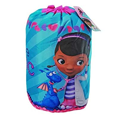 "Disney Doc McStuffins ""The Doc Is In"" Slumber Bag, Bonus Backpack with Straps, Blue/Pink/Purple from Jay Franco and Sons, Inc."