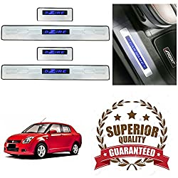V-Cart Premium Quality Car Door LED Sill Scuff Plates Foot Steps For Maruti Suzuki-Old Swift Dzire