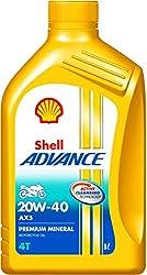 Shell Advance AX5 550031406 20W-40 Premium Mineral Motorbike Engine Oil (1 L)