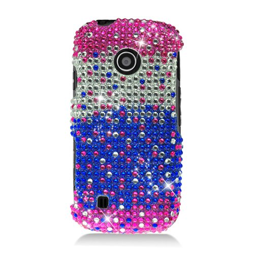 Cell Accessories For Less (Tm) Lg Beacon Un270/Mn270/Vn270 Cosmos Touch Full Cs Diamond Casewaterfall Pinksilverblue 321 - By Thetargetbuys