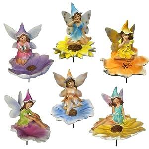 Terrapin Trading Flower Fairies Statue, Set of 6