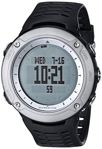 Momentum  1M-SP46B1B - Reloj de cuarzo unisex, con correa de plástico, color negro