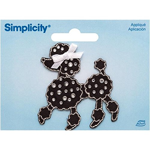 Wrights Jeweled Black Poodle with Rhinestones Iron-On Applique, 2 by 2-1/4-Inch, 1-Pack (Rhinestone Applique Iron On compare prices)