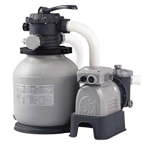 Pompa filtro a sabbia Intex da 7,9 metri cubi a 6 funzioni 28646 per piscine fuoriterra-interrate