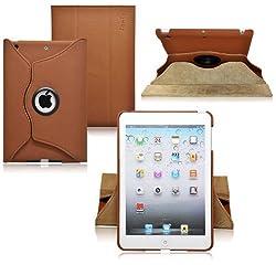 Ionic New 2014 Apple iPad Mini with Retina Display / Apple iPad Mini 2 Rotating Stand Leather Case Tablet 4G LTE (Brown)