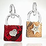 Square with Heart or Star Keychain